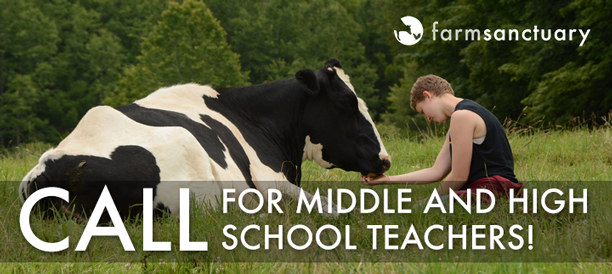 Call for Teacher Volunteers for the Farm Sanctuary Curriculu