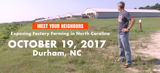 "Join Gene Baur and ""Meet Your Neighbors"" in NC."