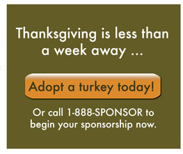 Adopt a Turkey Today!