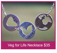 Veg for Life Necklace